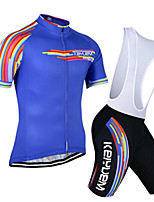 KEIYUEM®Others Unisex Short Sleeve Spring / Summer / Autumn Cycling Clothing Bib Suits/ Breathable Quick Dry#13