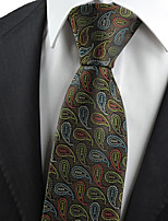 KissTies Men's Paisley Pattern Microfiber Tie Necktie Novelty Wedding Party Holiday With Gift Box (6 Colors Available)