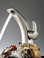 Brushed Nickel Bathroom Sink Faucet Lavatory Mixer Tap