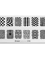 BlueZOO Rectangle Printing Nail Art Stamping (C-018)