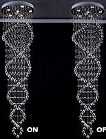 3 Contemporain Cristal / LED Plaqué Métal Lampe suspendueSalle de séjour / Chambre à coucher / Salle à manger / Cuisine / Bureau/Bureau