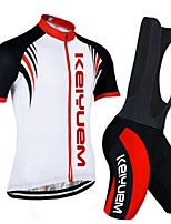 KEIYUEM Cycling Clothing Sets/Suits UnisexBreathable / Quick Dry / Dust Proof / Wearable / Compression / Back Pocket / Stretch /