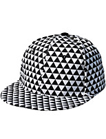 Women Wool Spring Fluorescent Color Triangle Geometric Grid Pattern Hip-hop Visor Hat