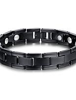 Men's Jewelry Health Care Black Titanium Steel Magnetic Bracelet
