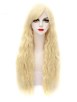 Fashion Natural Waves of High Quality Blonde Color Synthetic Hair