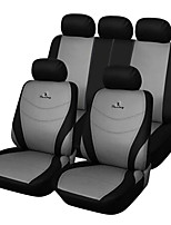 Universal Fit for Car, Truck, Suv, or Van Polyester Car Seat Cover Full Set Full Seat Cover Set (9 Pieces) Gray