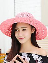 Fashion Women's  Bohemia Sun Beach Hat Seaside Tourism Hollow Bow Hat
