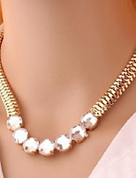2016 Big Fashion Ribbon Rhinestone Pendant Necklace Women Crystal Choker Statement Necklace
