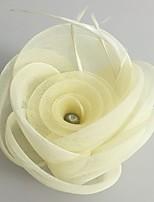 結婚式 / パーティー 成人用 羽毛 / チュール / ネット かぶと ヘッドドレス 1個