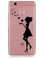 For Huawei Case / P9 / P9 Lite Ultra-thin / Transparent Case Back Cover Case Sexy Lady Soft TPU Huawei Huawei P9 / Huawei P9 Lite