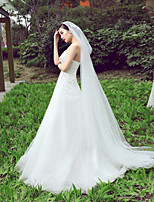 Wedding Veil One-tier Bride Chapel Veils Cut Edge