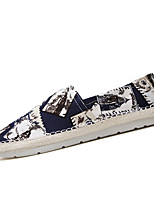 Men's Shoes Canvas Casual Loafers Casual Flat Heel Black / Blue / Green