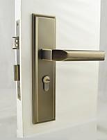 Antique Brass Door Lock, Lever Lock, Leverset, Door Lever with 3 Keys