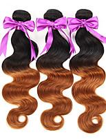 3Pcs/Lot Ombre 2 Tone Brazilian Hair Body Wave Ombre Brazilian Hair Weave Bundles 1B/30# 7A Ombre Virgin Hair