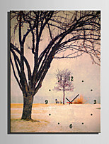E-HOME® Withered Tree Clock in Canvas 1pcs