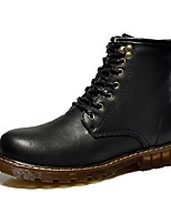 Women's Shoes Nappa Leather Flat Heel Snow Boots / Combat Boots Boots Office & Career / Party & Evening / Casual Black