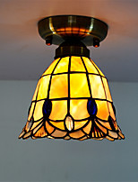 7 inch Retro Tiffany Ceiling Lamp /Shell Shade Flush Mount Living Room Dining Room light Fixture