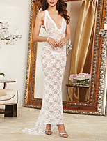 Women Sexy Lace V Neck Backless Chemises & Gowns Nightwear,Nylon / Polyester