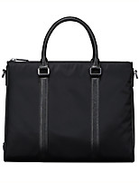 X.BNJ  Men Briefcase High-end Soft Genuine Leather with Oxford Cloth Men Business Handbag Vintage Shoulder Bags