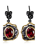 New design Flower 18K Gold black Plated Cubic Zirconia Brass Lead free Drop earrings for women
