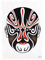 10PCS Peking Opera Body Arm Art Tattoo China Drama Demon Totem Makeup Women Men Waterproof Temporary Tattoo Sticker