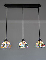7 inch 3-lights Retro Tiffany Pendant Lights Shell Shade Living Room Dining Room light Fixture