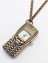 2016 New Fashion Hot Selling Popular Vintage Charms Fashion Pendants Mobile Phone Necklace