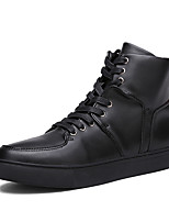 Men's Sneakers Spring / Summer / Fall / Winter Comfort Leather Outdoor / Office & Career / Casual Flat Heel Black White Blue