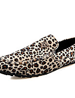 Men's Shoes Casual/Office & Career/Drive Fashion Leather Leopard Slip-on Loafers Boat Shoes 39-44