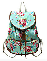 Geometric Flower pattern Casual Canvas Travel School College Backpack/bookbags/daypack for Teenage Girls/students