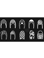 BlueZOO Ebay Blue Rectangle Nail Art Stamping (6)