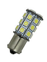 10X white BAU15S G18 Ba15s 27 5050 LED Turn Signal Rear Light Bulb D068 12V