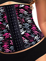 YUIYE® Women Sexy Lingerie Waist Training Corset Bustier Tops Shapewear Skull Purple Leopard Silver Rose S-2XL Corset