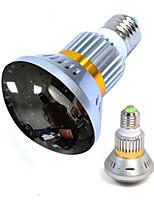 cámara lámpara inalámbrica con la cubierta de espejo y luz infrarroja invisible en la noche