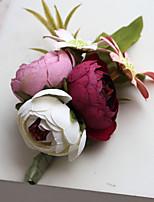 Ramos de Flores para Boda Forma Libre Rosas Ojales Boda / Fiesta / noche Multicolor Poliéster / Satén