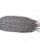 #1 / #2 / # 4 / #27 / #30 / Grau / Blau / Lila / #1B Havanna Twist Braids Haarverlängerungen 12 14 16 18 20 22 24 inch Kanekalon 12 Strand
