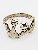Personalized Cat Retro Metal Ring