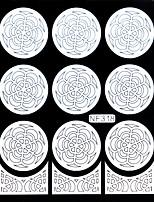 Nail Art Template Sticker-(NF318-White)
