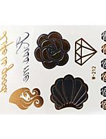 Lovely Waterproof Metal Elephant Gold Face Sticker W212