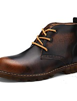 Men's Shoes Outdoor / Athletic / Casual Nappa Leather Boots Brown