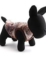 Katzen / Hunde Mäntel Braun Winter Blumen / Pflanzen warm halten / Modisch, Dog Clothes / Dog Clothing-Pething®