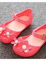 Zapatos de bebé-Planos-Casual-PVC-Negro / Rojo