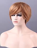 tapa corta el pelo mono recta sin tapa de alta calidad remy virginal humano pelucas 13 colores para elegir