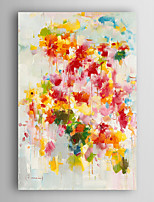 Hand Painted Oil Painting Abstractl Abstract Colourful Flowers with Stretched Frame 7 Wall Arts®