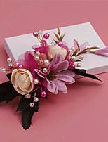 Vrouwen Bergkristal / Kristallen / Messing / Licht Metaal / Imitatie Parel / Stof Helm-Bruiloft / Speciale gelegenheden Bloemen / Haarclip
