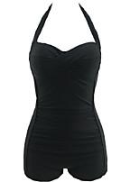 Summer Retro Totems Female's Swimwear Black