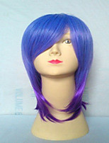 Popular  Capless Synthetic Wig Long Straight  Purple Hair Wigs  Suit for Party and Cosplay