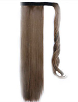 Brown 60CM Synthetic High Temperature Wire Wig Straight Hair Ponytail Color 10