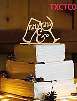 Kakepynt Ikke-personalisert Monogram Harpiks Bryllup Gul Sommerfugl Tema 1 OPP