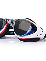 WAVE Unisex Swimming Goggles White / Red / Black / Blue Anti-Fog / Waterproof / Adjustable Size